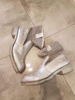 Botki srebrne buty rozmiar 40