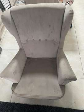 Cypress/1029 wingback single couch for sale