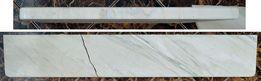 Parapet marmurowy uszkodzony - w odcieniach szarości