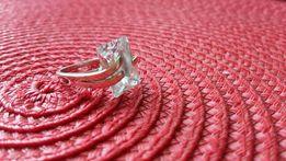 Srebrny pierścionek Apart