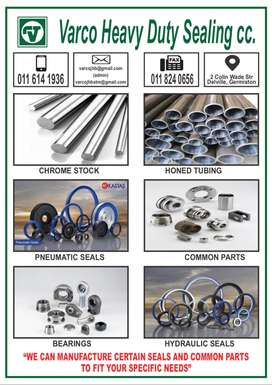 Hydraulic and Pneumatic Cylinder Parts, Seals and Bearings