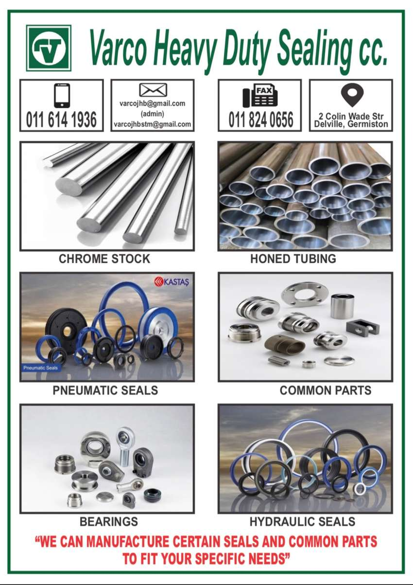 Hydraulic and Pneumatic Cylinder Parts, Seals and Bearings 0