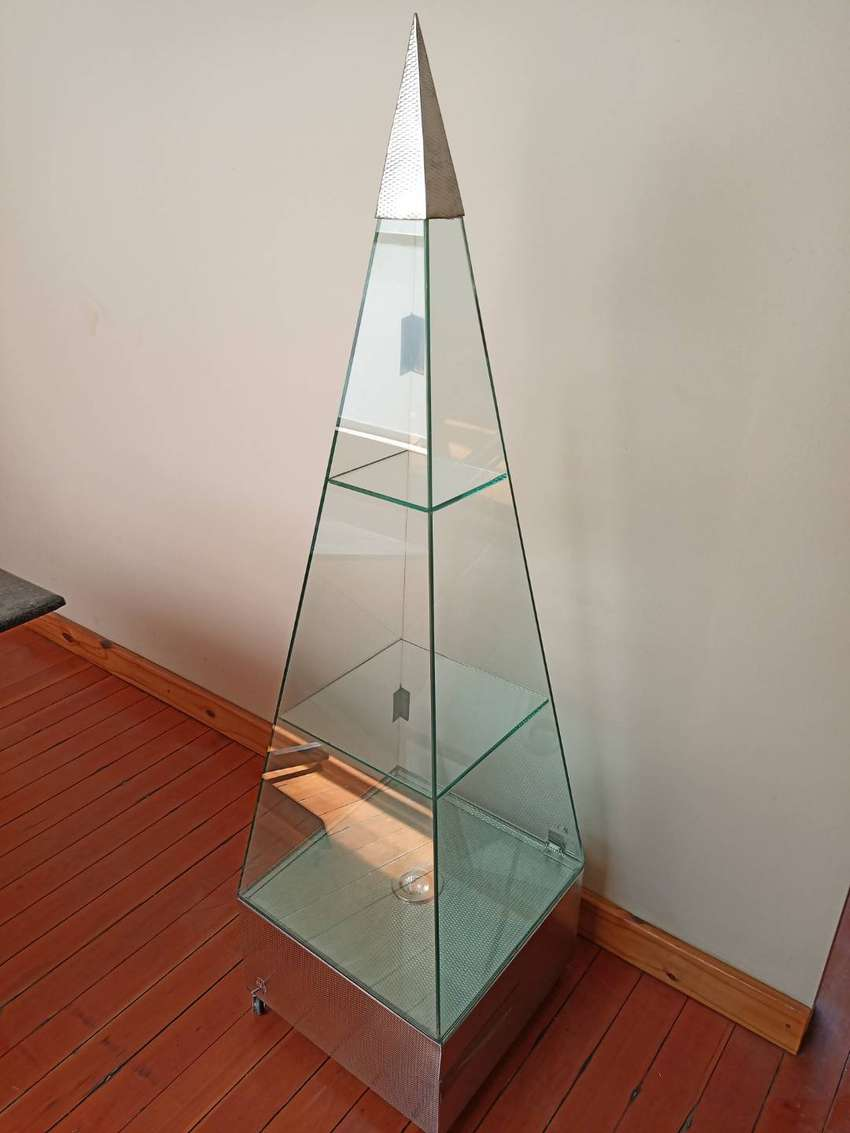 Lighted Glass Prism Showcases