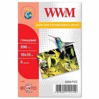 Фотобумага WWM Глянцевая 200г/м 10х15 см