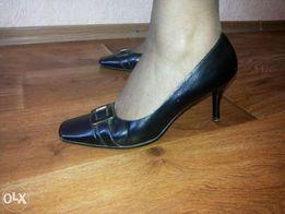 Туфли кожаные черные р.41