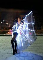 Танец с восточными крыльями, световое шоу, светодиодное шоу, ledshow