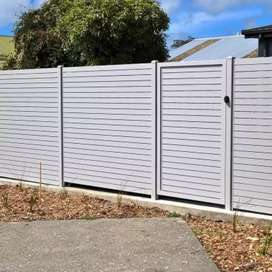 GALVANIZED STEEL FRAMED NUTEC SLATED DRIVEWAY GATES
