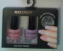 Zestaw lakierów do paznokci Max&More - róż i jasny fiolet