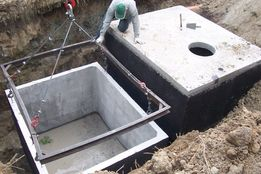Szamba betonowe, Zbiornik betonowy na szambo, Zbiorniki na ścieki