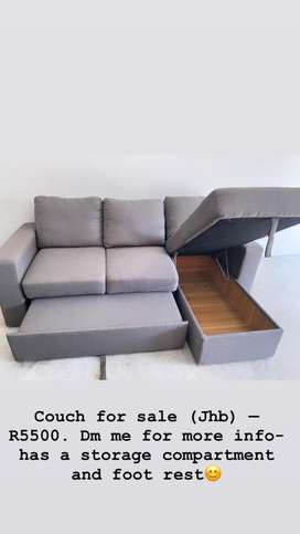 3 Seater, L-shaped Couch for R5500