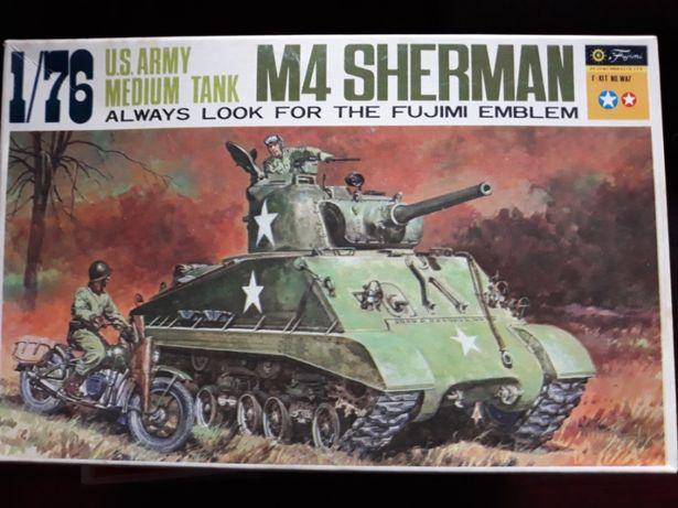 Model Fujimi czołg M4 Sherman, kolekcja 1973rok Stanisławów Pierwszy - image 2
