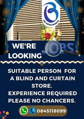 We are #hiring Salesperson for blinds and curtain store