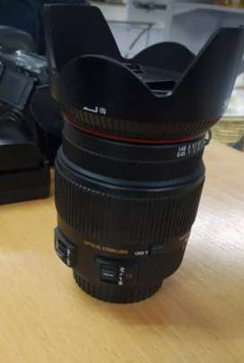 SIGMA 18-200MM LENS & CANON EOS 7D AND CHARGER.