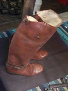 Genuine leather mens boots size 10