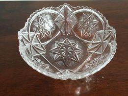 Kryształowa salterka półmisek stare szkło