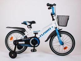 BMX 16 cali ROCKY rower niebieski dla chłopca POLSKI