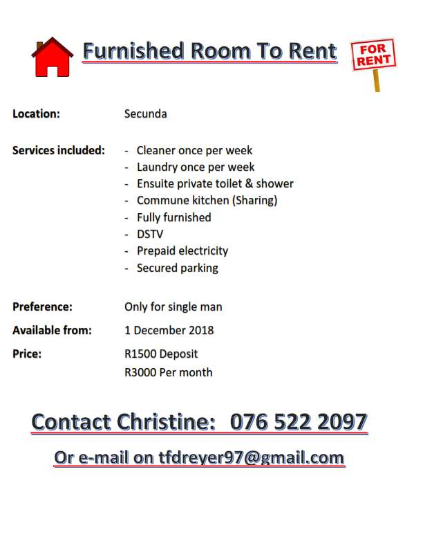 Furnished Accommodation Available 0