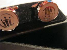 подарочные запонки мужские металл корона британия в коробочке супровые