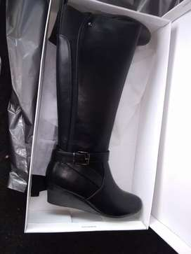 Long leather black boots from truworths