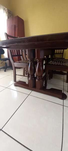 Imbuia Dining Table and Chairs