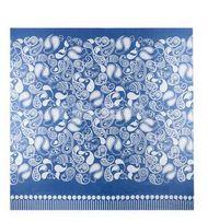 Ikea narzuta na łóżko Backtimjan niebieska niebiesko biała wzory duża