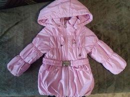 Демисезонная фирменная куртка на девочку 1.5-2 года, в идеальном сост.