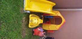 Stand up play house , slide ,boncing house x2 shell and more