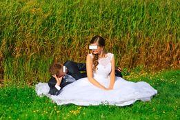 suknia ślubna biała typ Księżniczki