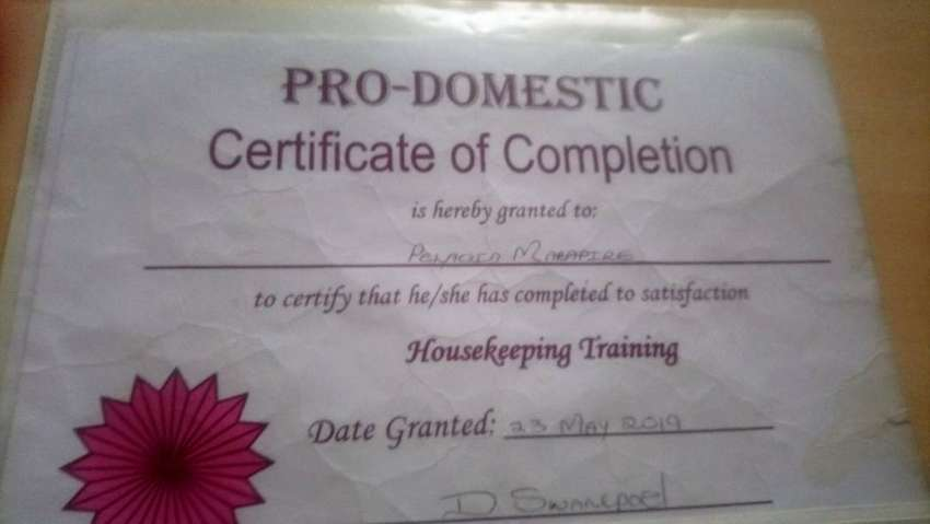 Certified domestic worker looking for a job 0