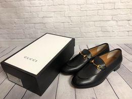 Туфли, лоферы Gucci, натуральная кожа, брендовая обувь