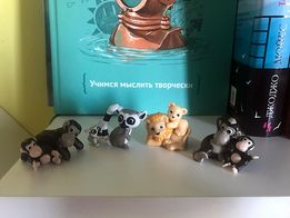 Kinder Surprise Natoons, обезьянки, львята, лемуры