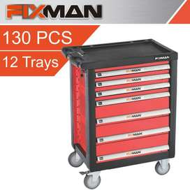FIXMAN 7 DRAWER IND. 130PC ROLLER CABINET ON CASTORS