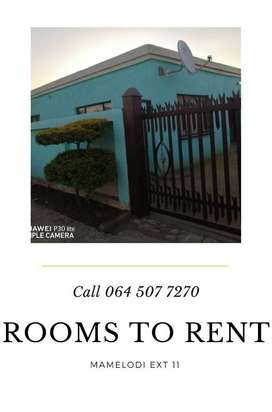 Rooms Available to Rent Mamelodi Ext11