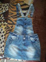 Продам джинсовый комбез с юбкой новый размер 28!В реале выглядит лучше