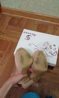 Туфли, босожножки на высоком толстом, широкором каблуке