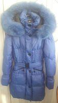 Красивое пальто фирмы Geldeen Fox с шикарным песцом, 38р.