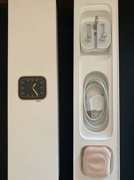 44mm GPS Gold Aluminium Case with Pink Sand Sport Band - Series 5