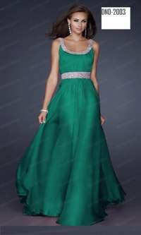 Image of green and silver gown