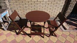 Стол (стул) круглый складной деревянный для дома,кафе,бара,кофейни.