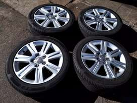 17 inch Audi rims with good second hand tyres