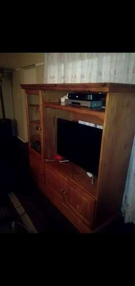 TV stand,side board,table and chairs.