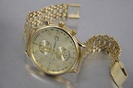 Złóty męski zegarek 14k (585) NOWY - NAJTANIEJ!