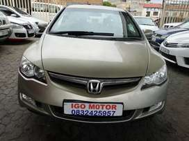 2008 Honda Civic iVtec 1.8 VXI Sedan 85,000km R73,000