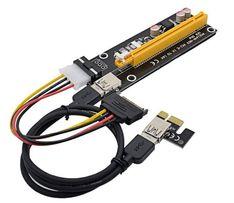 Райзер молекс 006 ЕСТЬ ГАРАНТИЯ 500шт 60см USB PCI-E 1-16x molex ОПТ