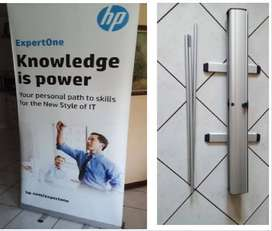 Pull up Banner Stand- Banner size 1m x 2m.
