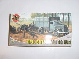Opel Blitz i działko ppanc PAK40 - AIRFIX - model do sklejania