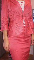 Żakiet i spódnica kolor malinowy roz.38