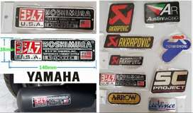 Yamaha Yoshimura aluminium exhaust badges decals emblems