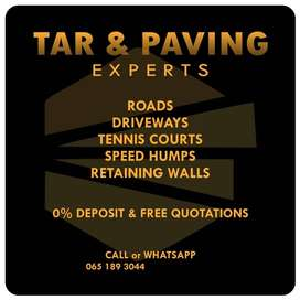 Tarring, Paving and wall retaining