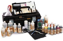 Материалы для реставрации кожи, нубука и замши